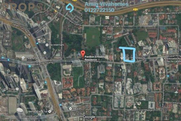 For Sale Land at Binjai Residency, KLCC Freehold Unfurnished 1R/1B 10m