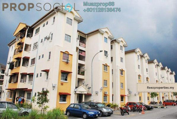 For Sale Apartment at Orkid Apartment, Shah Alam Leasehold Semi Furnished 3R/2B 300k