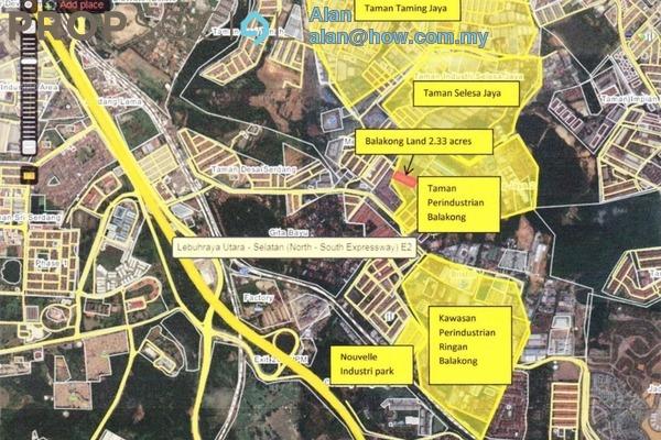 For Sale Land at Balakong Jaya Industrial Park 2, Balakong Freehold Unfurnished 0R/0B 13.5m