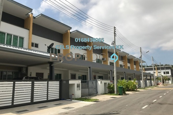 For Sale Terrace at Taman Makmur Ria, Kota Kinabalu Freehold Unfurnished 3R/3B 550k