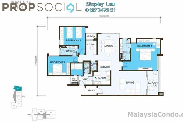 For Sale Condominium at Sunway South Quay, Bandar Sunway Freehold Fully Furnished 4R/3B 1.3m