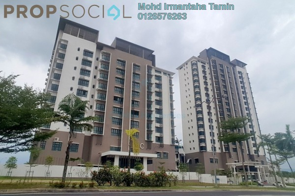 For Sale Condominium at Lake Vista Residence, Bandar Tun Hussein Onn Freehold Unfurnished 3R/2B 620k