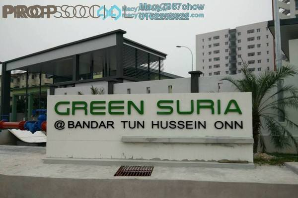 For Rent Apartment at Green Suria Apartment, Bandar Tun Hussein Onn Freehold Semi Furnished 3R/2B 950translationmissing:en.pricing.unit