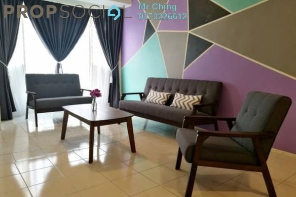 For Rent Apartment at Rhythm Avenue, UEP Subang Jaya Freehold Fully Furnished 3R/2B 1.5k