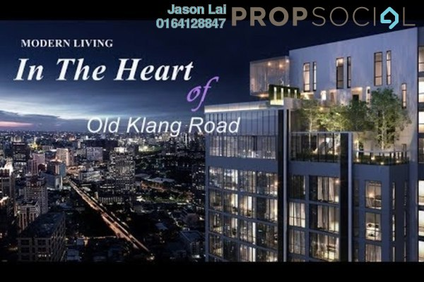 For Sale Condominium at Millerz Square, Old Klang Road Freehold Semi Furnished 2R/2B 612k