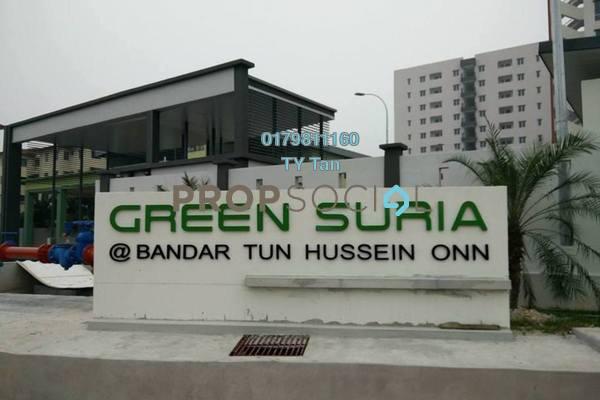 For Sale Condominium at Green Suria Apartment, Bandar Tun Hussein Onn Freehold Semi Furnished 3R/2B 373k