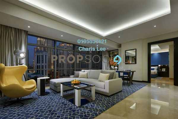 For Sale Serviced Residence at The Ritz-Carlton Residences, KLCC Freehold Semi Furnished 1R/1B 2.92m