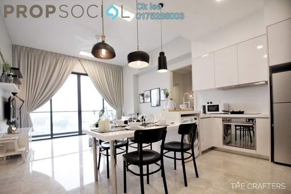For Rent Condominium at Vogue Suites One @ KL Eco City, Mid Valley City Freehold Fully Furnished 2R/1B 3.4k