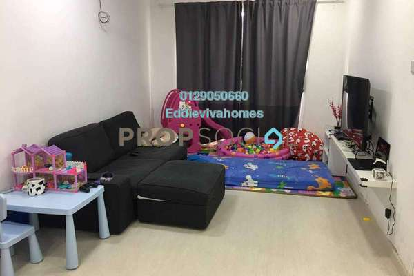 For Sale Condominium at Aman Puri, Kepong Freehold Semi Furnished 4R/2B 368k
