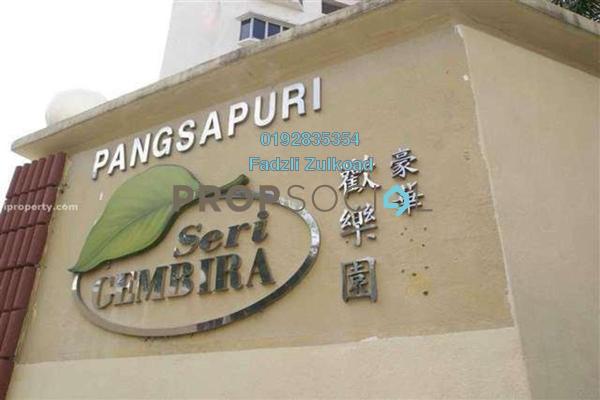 For Rent Apartment at Seri Gembira Apartment, Jalan Ipoh Freehold Unfurnished 3R/2B 1.3k