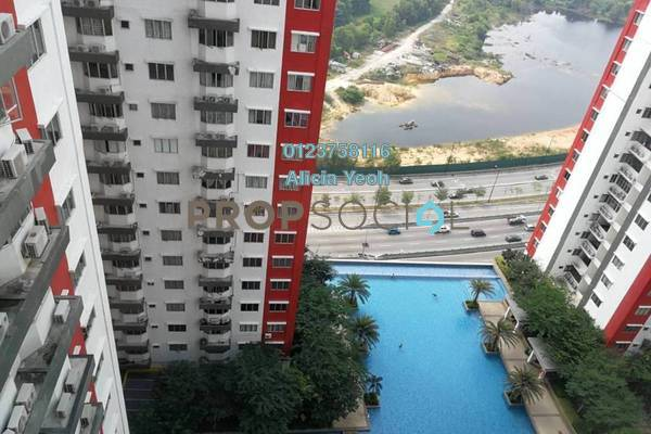 For Sale Serviced Residence at Main Place Residence, UEP Subang Jaya Freehold Semi Furnished 2R/1B 395k