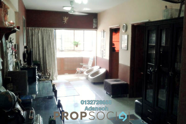 For Rent Apartment at Plaza Sinar, Segambut Freehold Semi Furnished 3R/2B 1.2k