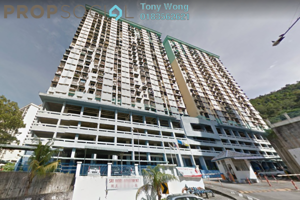 For Rent Condominium at Sri Ivory Apartment, Farlim Freehold Semi Furnished 3R/2B 750translationmissing:en.pricing.unit