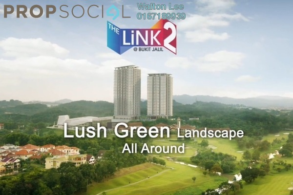 For Sale Condominium at The Link 2 Residences, Bukit Jalil Freehold Semi Furnished 2R/1B 550k