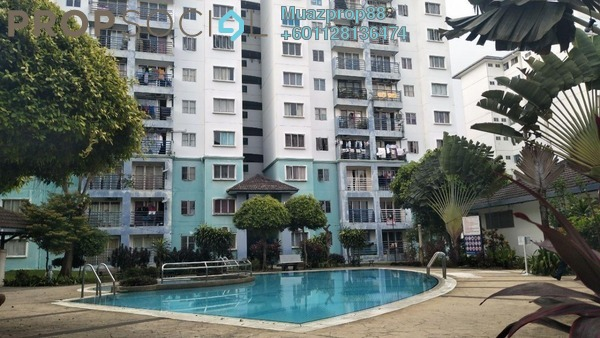 For Sale Apartment at Akasia Apartment, Pusat Bandar Puchong Freehold Semi Furnished 3R/3B 300k