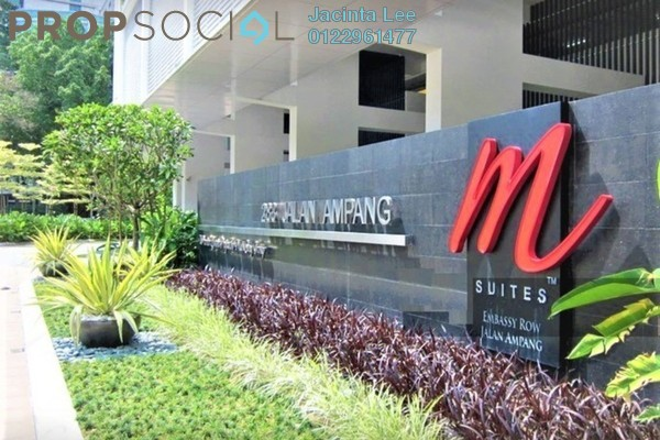 For Sale Serviced Residence at M Suites, Ampang Hilir Freehold Semi Furnished 2R/2B 656k