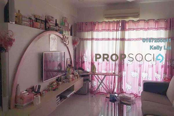 For Rent Condominium at Ixora Apartment, Kepong Freehold Semi Furnished 3R/2B 1.1k