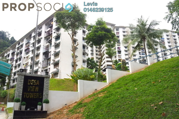 For Rent Condominium at Desa View Towers, Melawati Freehold Semi Furnished 3R/2B 1.3k