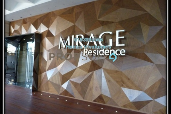 For Rent Condominium at Mirage Residence, KLCC Freehold Fully Furnished 3R/2B 6k