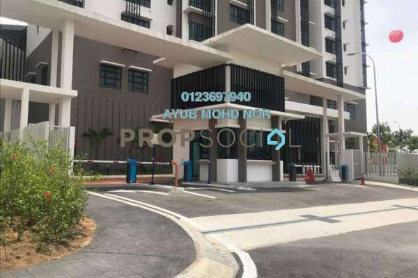 For Rent Condominium at Lake Vista Residence, Bandar Tun Hussein Onn Freehold Unfurnished 3R/2B 1.8k