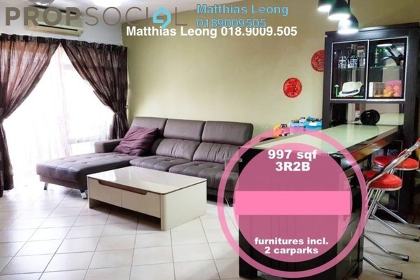 For Sale Condominium at Perdana Exclusive, Damansara Perdana Freehold Fully Furnished 3R/2B 498k