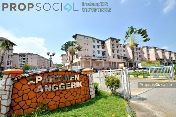 For Rent Apartment at Anggerik Apartment, Bukit Beruntung Freehold Unfurnished 3R/2B 450translationmissing:en.pricing.unit