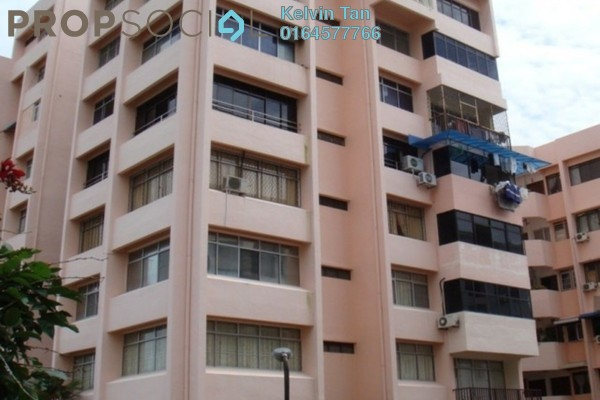 For Rent Condominium at Edgecumbe Court, Pulau Tikus Freehold Fully Furnished 3R/2B 1.4k