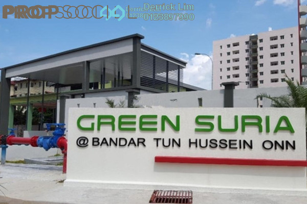 For Sale Condominium at Green Suria Apartment, Bandar Tun Hussein Onn Freehold Fully Furnished 3R/2B 375k