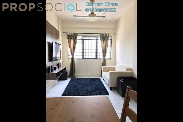 For Rent Apartment at Danau Murni, Taman Desa Freehold Semi Furnished 3R/2B 1.5k