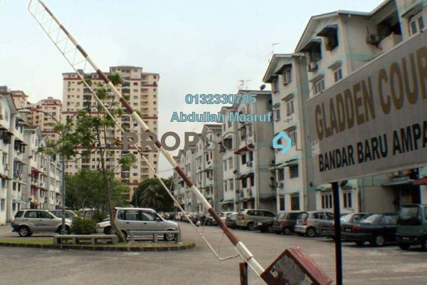 For Rent Apartment at Gladden Court, Ampang Freehold Unfurnished 3R/2B 1k