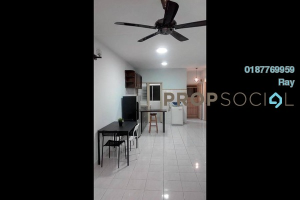 For Rent Apartment at Cemara Apartment, Bandar Sri Permaisuri Freehold Semi Furnished 3R/2B 1.2k
