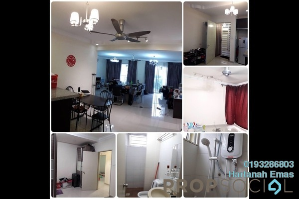 For Sale Condominium at Platinum Lake PV16, Setapak Freehold Semi Furnished 3R/2B 599k