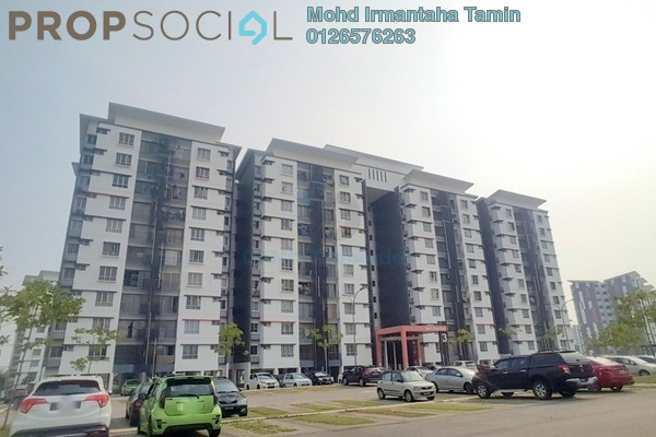 For Sale Apartment at Seri Kasturi, Setia Alam Freehold Unfurnished 3R/2B 370k