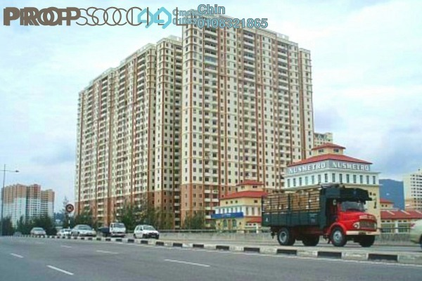 For Sale Apartment at Mutiara Heights, Jelutong Freehold Semi Furnished 3R/2B 360k