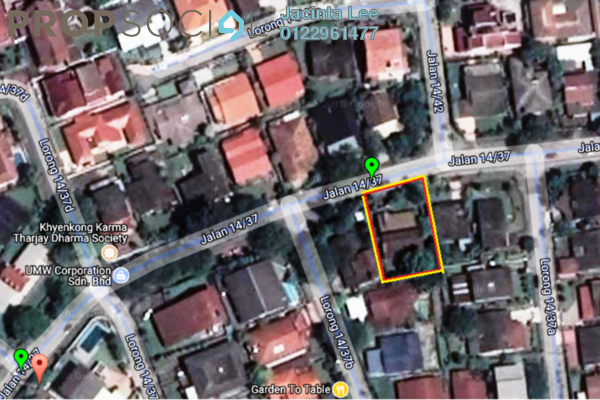 For Sale Bungalow at Section 14, Petaling Jaya Freehold Unfurnished 4R/3B 1.05m