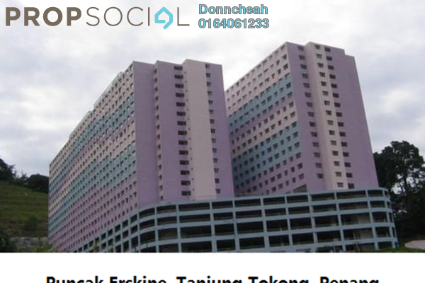 For Rent Condominium at Puncak Erskine, Tanjung Tokong Freehold Semi Furnished 3R/2B 750translationmissing:en.pricing.unit