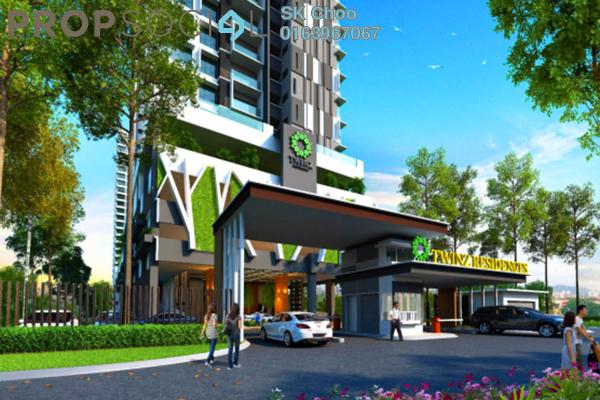 For Sale Condominium at Twinz Residences, Bandar Puchong Jaya Freehold Unfurnished 3R/2B 544k