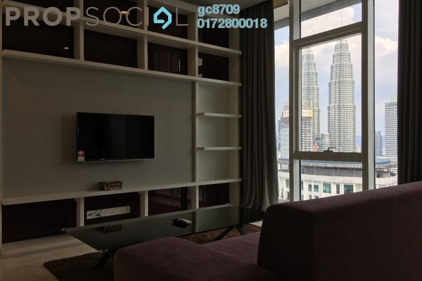 For Sale Condominium at Platinum Suites, KLCC Freehold Fully Furnished 2R/1B 1.48m