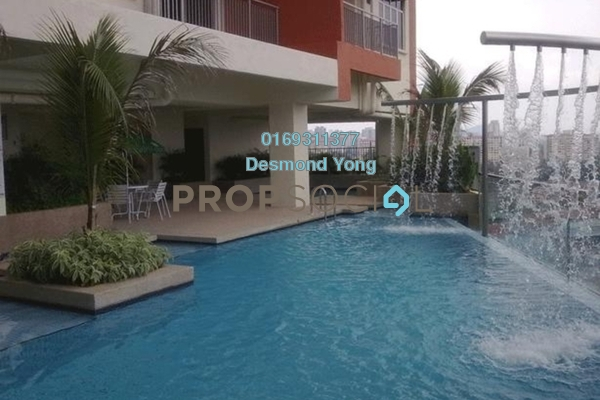 For Rent Condominium at Diamond Residences, Setapak Freehold Semi Furnished 3R/2B 1.6k