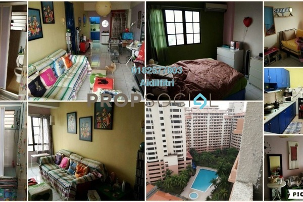 For Sale Condominium at Bayu Tasik 1, Bandar Sri Permaisuri Freehold Semi Furnished 3R/2B 380k