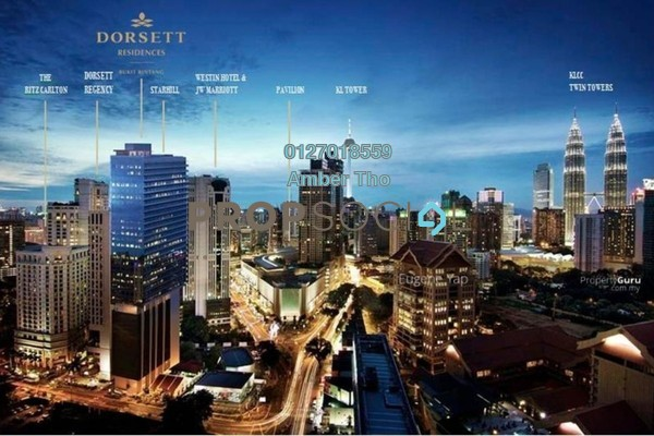 For Sale Condominium at Dorsett Residences, Bukit Bintang Freehold Fully Furnished 2R/2B 2.2m