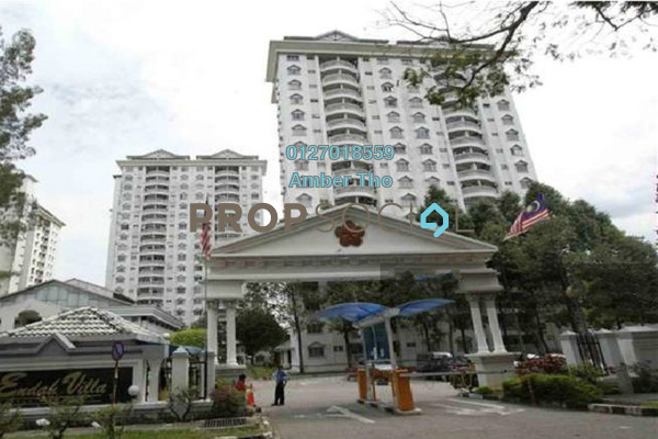 For Sale Condominium at Endah Regal, Sri Petaling Freehold Semi Furnished 3R/2B 451k