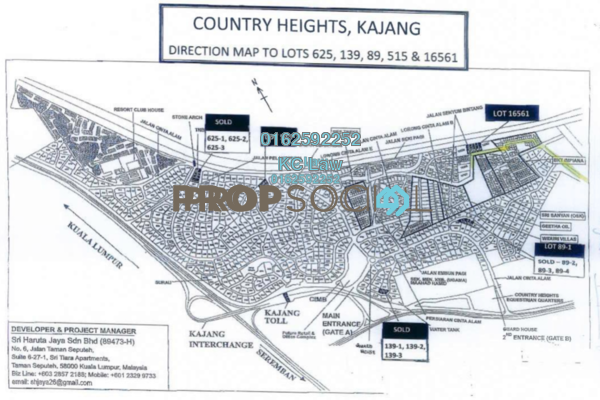 For Sale Land at Country Heights Kajang, Kajang Freehold Unfurnished 0R/0B 1.68m