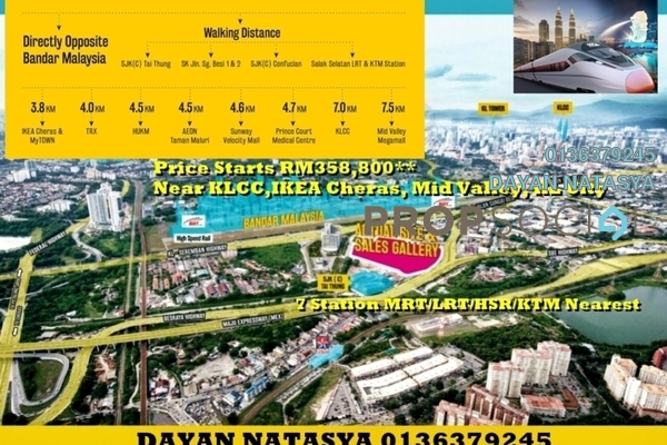 For Sale Condominium at Razak City Residences, Sungai Besi Leasehold Semi Furnished 3R/3B 464k