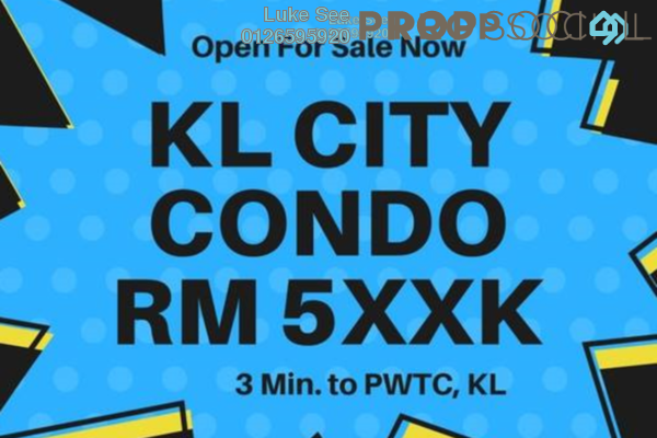 For Sale Condominium at Rica Residence, Sentul Freehold Unfurnished 3R/2B 552k