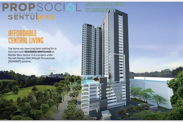 For Rent Condominium at Residensi Sentulmas, Sentul Freehold Unfurnished 3R/2B 1.2k