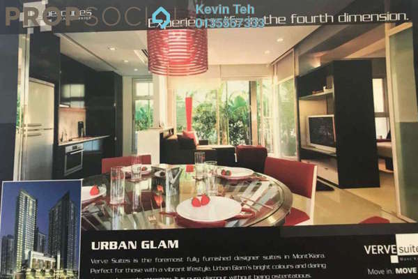 For Rent Condominium at VERVE Suites, Mont Kiara Freehold Fully Furnished 1R/1B 3.1k