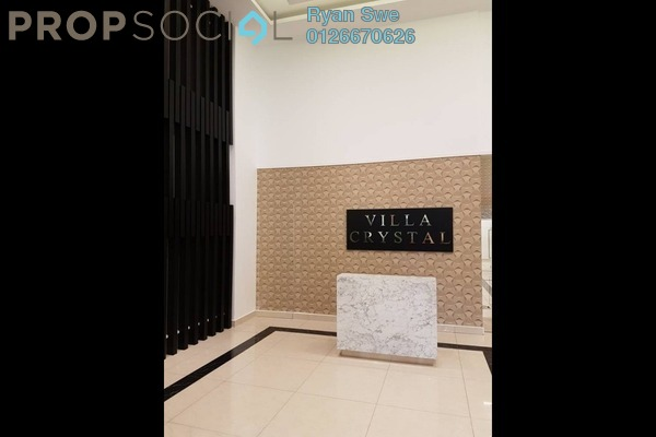For Sale Condominium at Villa Crystal, Segambut Freehold Semi Furnished 4R/3B 700k