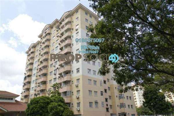 For Sale Condominium at Jati 1 Apartment, Subang Jaya Leasehold Semi Furnished 3R/2B 368k