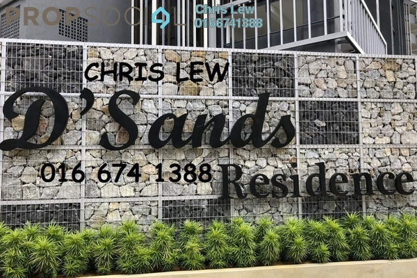 For Rent Condominium at D'Sands Residence, Old Klang Road Freehold Semi Furnished 2R/1B 1.4k